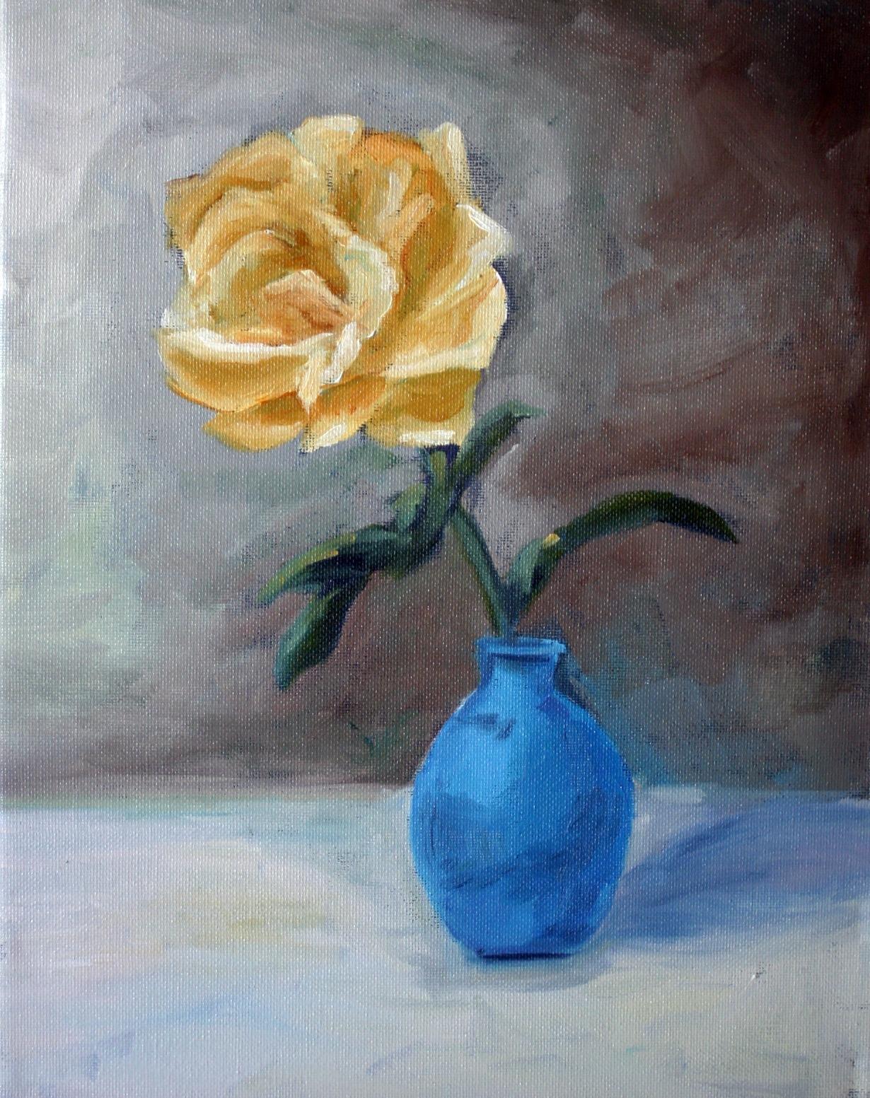 """""""Yellow Rose"""" original fine art by Kristen Dukat"""