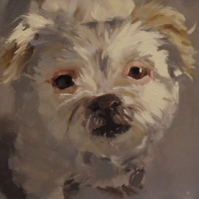 """LACEY"" original fine art by Helen Cooper"