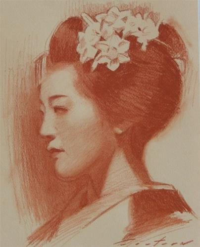 """""""Portrait of Tomitae"""" original fine art by Phil Couture"""