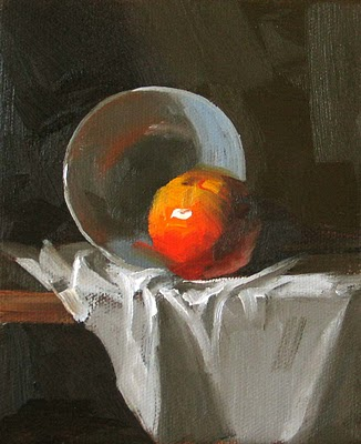 """Red Tangerine"" original fine art by Qiang Huang"
