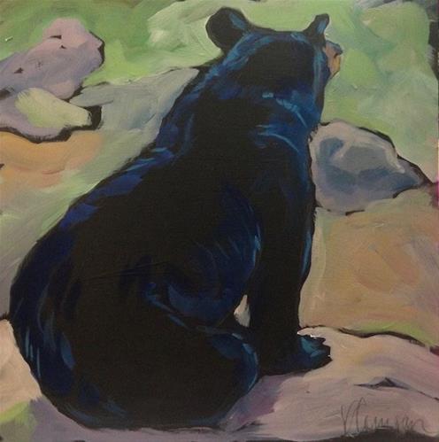 """""""North Shore Lotus Position"""" original fine art by Kat Corrigan"""
