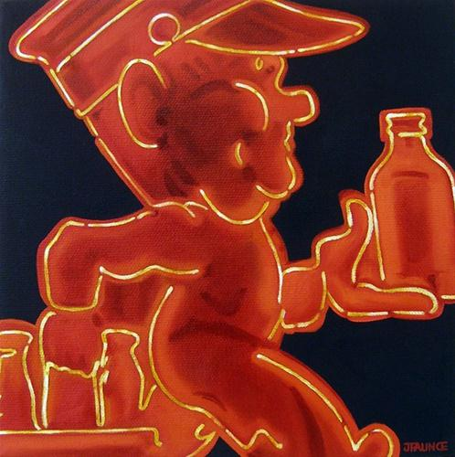 """Little Red Vegas I"" original fine art by Jelaine Faunce"