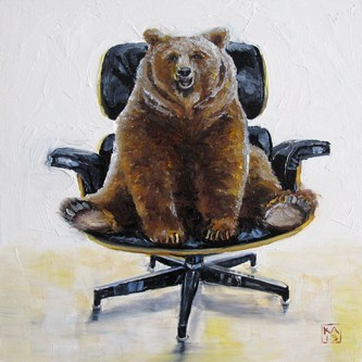 """""""the right to bear Eames"""" original fine art by Kimberly Applegate"""