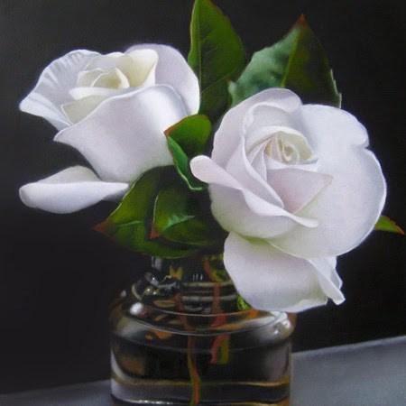 """Rose Blush #2 8x8"" original fine art by M Collier"