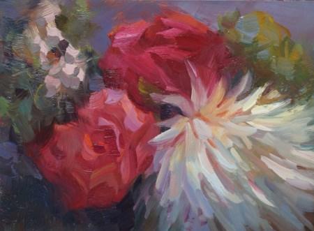 """Centerpiece for a 60th Birthday"" original fine art by Carol Myer"