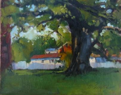 """Shade Tree"" original fine art by Connie Snipes"