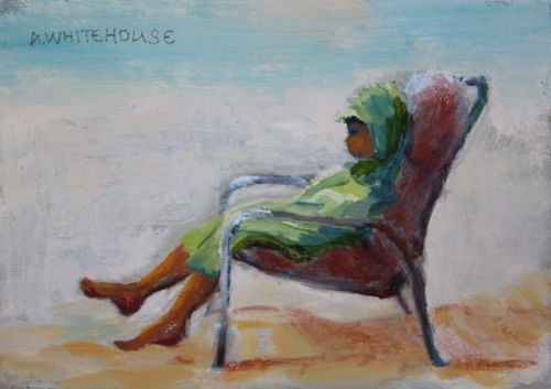 """Time Out Figurative Paintings by Arizona Artist Amy Whitehouse"" original fine art by Amy Whitehouse"