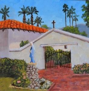 """Misson Courtyard"" original fine art by Robert Frankis"