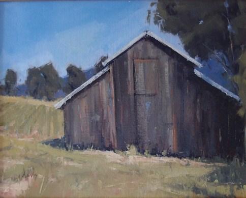 """""""Weathered Vineyard Barn"""" original fine art by Julie Davis"""