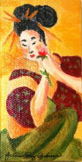 """""""Girlfriend"""" original fine art by JoAnne Perez Robinson"""