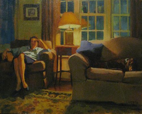 """Ann and Otis"" original fine art by Kathy Weber"