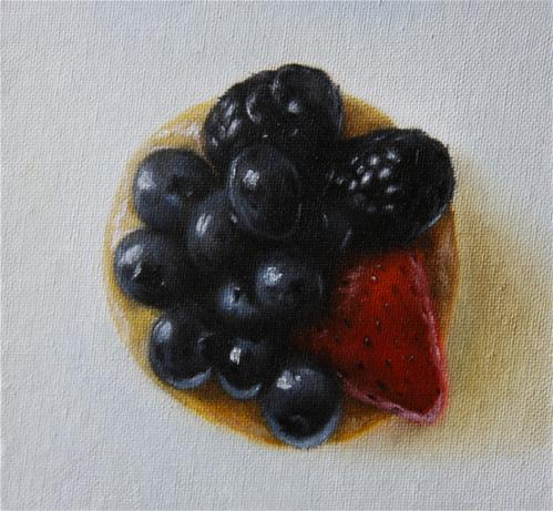 """Mini Fruit Tart"" original fine art by Jonathan Aller"