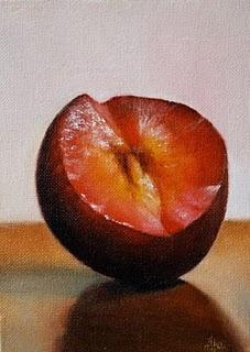 """""""Plum"""" original fine art by Jonathan Aller"""