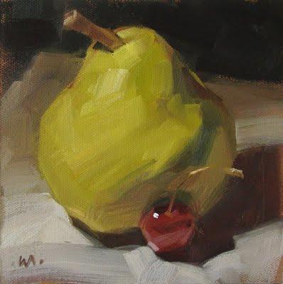 """""""Mama Pear"""" original fine art by Carol Marine"""