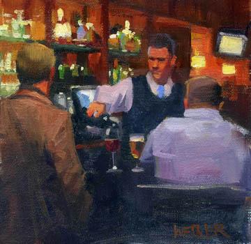 """""""Cabernet please"""" original fine art by Kathy Weber"""
