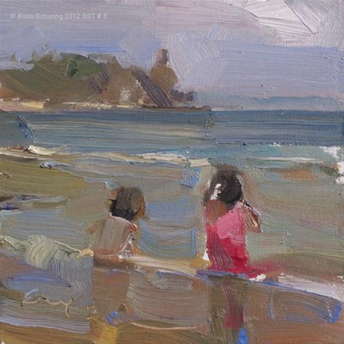 """Seascape summer Thailand #E"" original fine art by Roos Schuring"