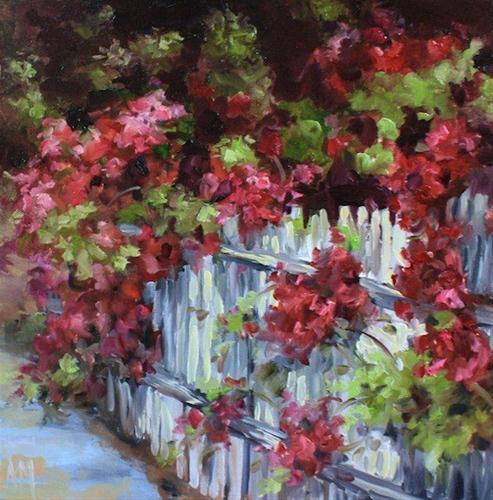 """Along the Way Rose Arbor by Texas Flower Artist Nancy Medina"" original fine art by Nancy Medina"
