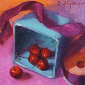 """""""Out of the Box"""" original fine art by Bruce Bingham"""