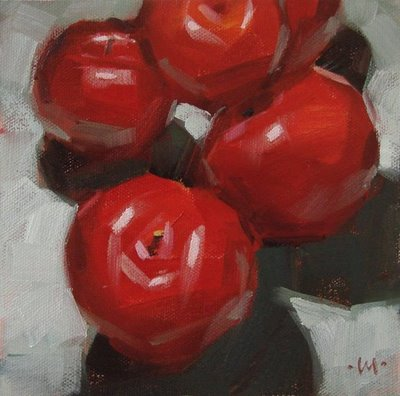 """Plum Stack"" original fine art by Carol Marine"