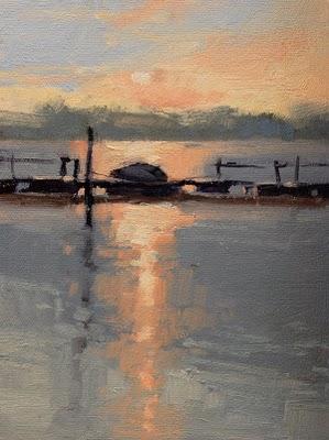 """""""Early Start"""" original fine art by Laurel Daniel"""