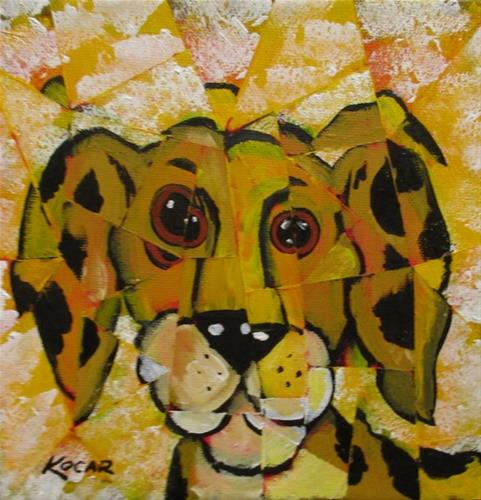 """Yellow Dog"" original fine art by George Kocar"