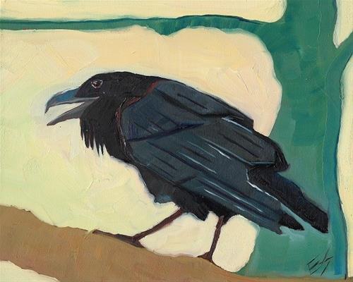"""""""Raven Reserved"""" original fine art by Elizabeth See"""