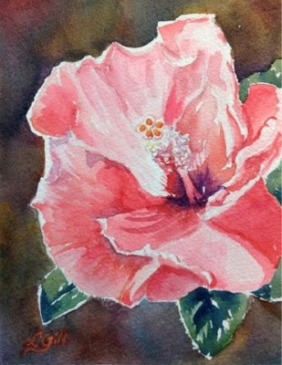 """""""Day 19 - Sunny Hibiscus"""" original fine art by Lyn Gill"""