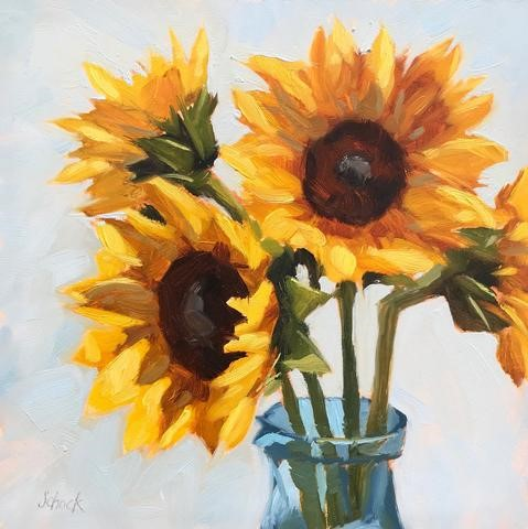 """Sign up now for my alla prima workshop!"" original fine art by Sharon Schock"