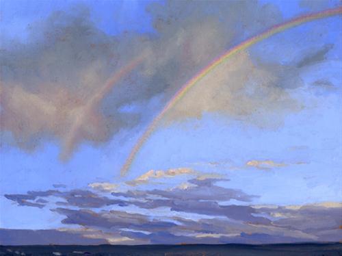 """DOUBLE RAINBOW"" original fine art by Nancy Herman"