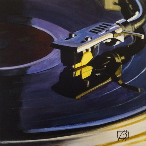 """Vintage Vinyl II"" original fine art by Andre Beaulieu"
