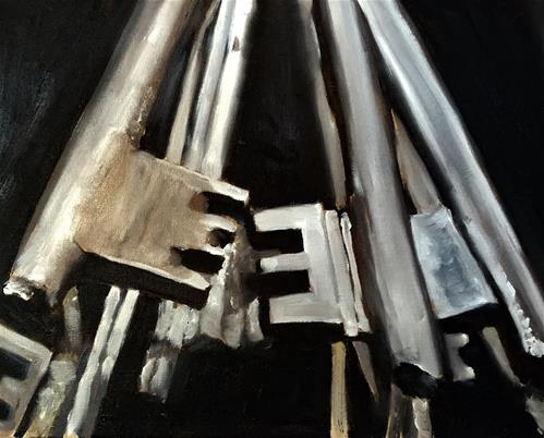 """Keys"" original fine art by James Coates"