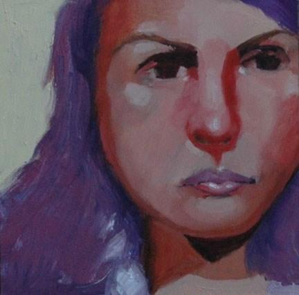 """""""FACE No. 114"""" original fine art by Linda Popple"""