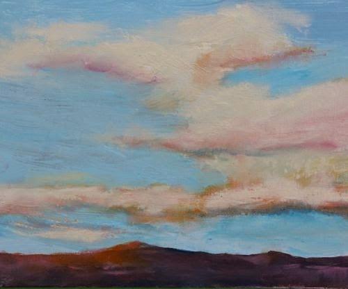 """""""Southwest Sunrise 2, Southwest Landscape Paintings by Arizona Artist Amy Whitehouse"""" original fine art by Amy Whitehouse"""
