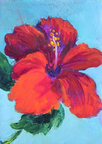 """Hibiscus, Contemporary Still Life Paintings by Arizona Artist Amy Whitehouse"" original fine art by Amy Whitehouse"
