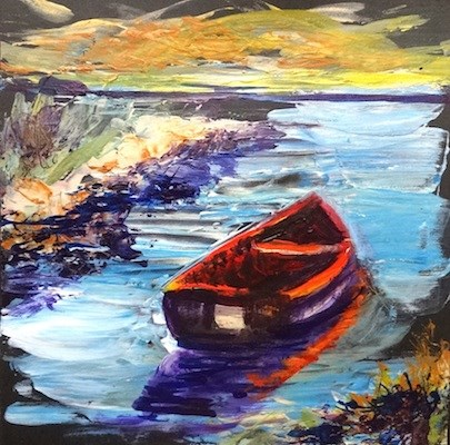 """4135 - Safe Harbour - KISS painting"" original fine art by Sea Dean"