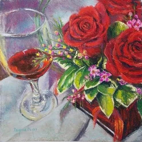 """""""Days of Wine and Roses"""" original fine art by Denise Beard"""