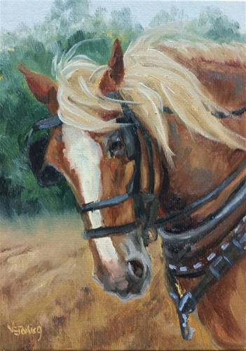 """Plow Horse-study"" original fine art by Veronica Brown"