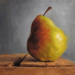 """Just A Pear"" original fine art by Michael Naples"