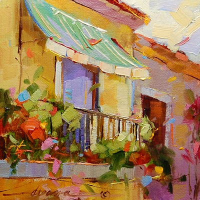 """""""Contagious Colors of Italy"""" original fine art by Dreama Tolle Perry"""