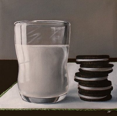"""Milk & Cookies"" original fine art by Jelaine Faunce"