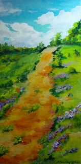 """You Can Get There From Here"" original fine art by JoAnne Perez Robinson"