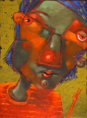 """Peacenik"" original fine art by Brenda York"