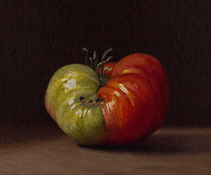 """Summer Heirloom Tomato No. 2"" original fine art by Abbey Ryan"