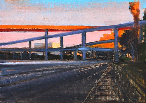 """Dusk, I-5"" original fine art by Kevin Inman"