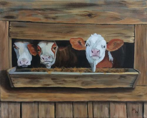 """""""Dining out"""" original fine art by Michelle Wolfe"""