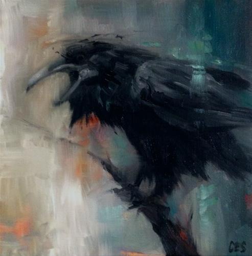 """Omen"" original fine art by ~ces~ Christine E. S. Code"