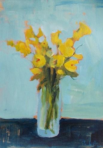 """""""Yellow Bells"""" original fine art by Pamela Munger"""