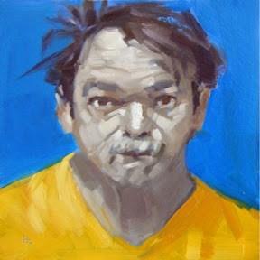 """""""FACE-IT  #14"""" original fine art by Helen Cooper"""