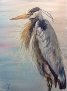 """""""Day 4 - Bayside Blue #2"""" original fine art by Lyn Gill"""