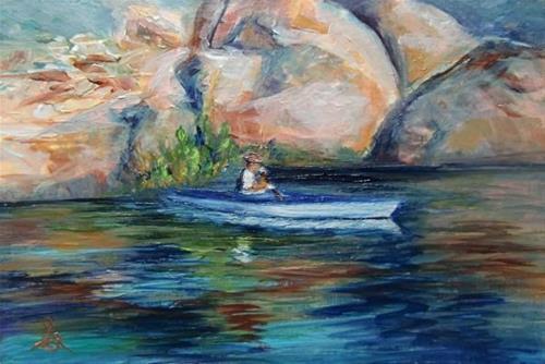 """3118 Spring Reflections - OSWOA Series"" original fine art by Sea Dean"